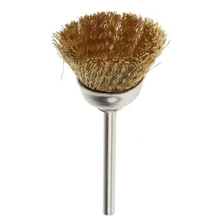 Mandrel Mounded Cup End Brush Brass