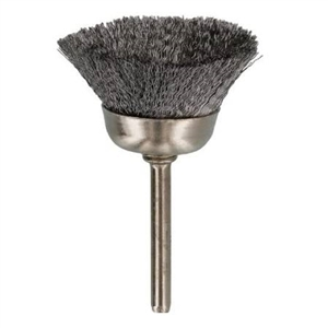 Mandrel Mounded Cup End Brush Steel