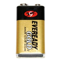 9V Battery Gold Alkaline
