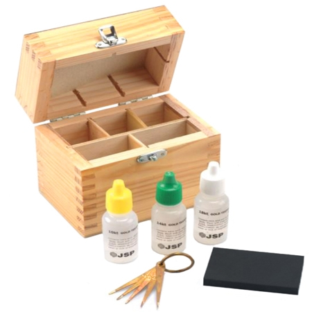 GOLD TEST KIT W/3 PLASTIC BTL.
