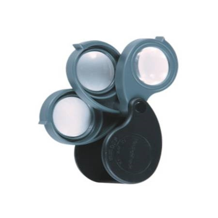 Triple Pocket Magnifier 5-10-15X