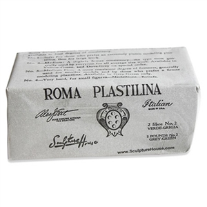 PLASTILINA,GREEN/GREY 2 LB.