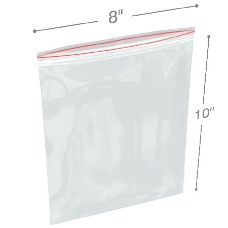 "Reclosable White-Block Bag 3"" x 4"""