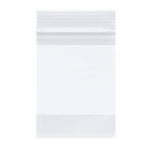"Reclosable White-Block Bag 8"" x 10"""