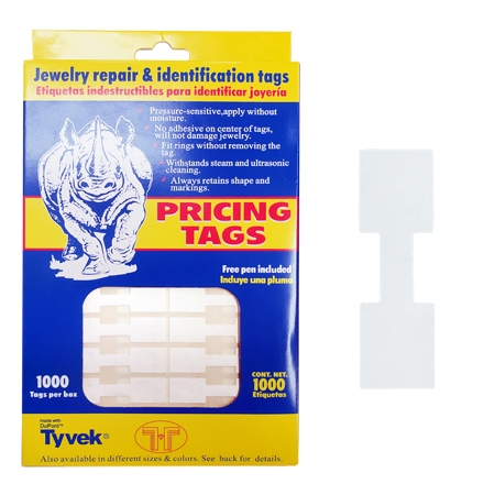 Elephant Hyde Tags Reg Size White