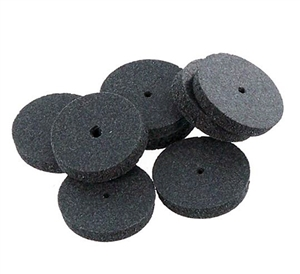 Abrasive/Polisher - 5/8in. SQUARE EDGE WHEEL, DARK GRAY