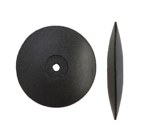 Gumees Polishing Wheel Knife Edge 7/8 Black, Coarse
