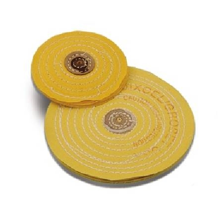 PREMIUM STITCHED YELLOW TREATED BUFFS, (DIA. 5 in.)